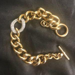 Michael Kors Pave link chain bracelet